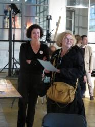 Katrien Boogaerts Kunstwerkt Denise Vandevoort Schepen van cultuur stad Leuven
